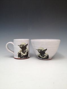 Handmade Star Wars breakfast set with Yoda