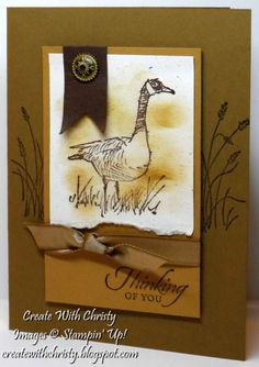 Wetlands Thinking of You by StampinChristy - Cards and Paper Crafts at Splitcoaststampers