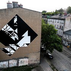 Graphic Surgery é um duo holandês que cria incríveis murais em lugares abandonados, inspirados pela estética da arquitetura industrial das grandes cidades.