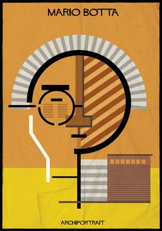 Image 3 of 33 from gallery of The Latest Illustration from Federico Babina: ARCHIPORTRAIT. Image Courtesy of Federico Babina Walter Gropius, Zaha Hadid, Bauhaus, Mario Botta, Architect Drawing, Famous Architects, Minimalist Poster, Design Reference, Art And Architecture
