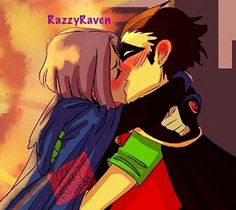 This adorable  I ship it. I prefer this than Starfire and Raven