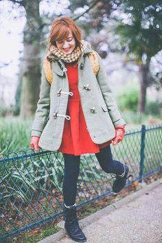 robe rouge kaki-5