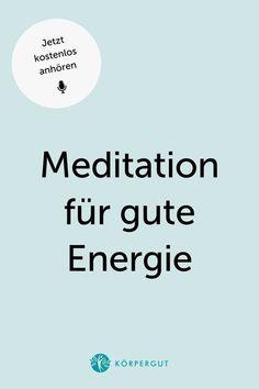 Lass uns gemeinsam für gute Energie meditieren ��Diese Meditation soll dir helfen, negative durch positive Energie zu ersetzen. Probier's unbedingt aus - es wirkt nämlich Wunder!Klicke auf den Pin und höre in die Podcast Folge rein. #m Meditation, Positive Energie, Chart, Joie De Vivre, Zen