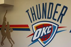 And The Thunder Rolls. Party On In Our OKC Thunder Room. This Is The