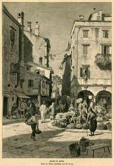 Corfu Town, Corfu Island, Corfu Greece, Black And White Colour, Color Photography, Old Photos, Sheep, History, Painting