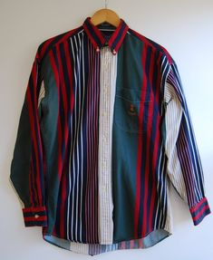 b3709707 Ralph Lauren Shirt Men's M Vintage Ralph Lauren Chaps Striped Shirt by  RandomAmazing on Etsy Flat