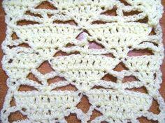 Meladoras Creations | Triangle Lacy Stitch - Free Crochet Pattern - Meladoras Creations