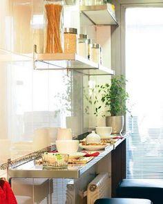 настенный стол для узкой кухни
