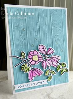 So Loved by - Cards and Paper Crafts at Splitcoaststampers Fusion Card, Fusion Design, Altenew, Floral Wall, Embossing Folder, Cool Cards, Flower Cards, Watercolor Paper, I Card