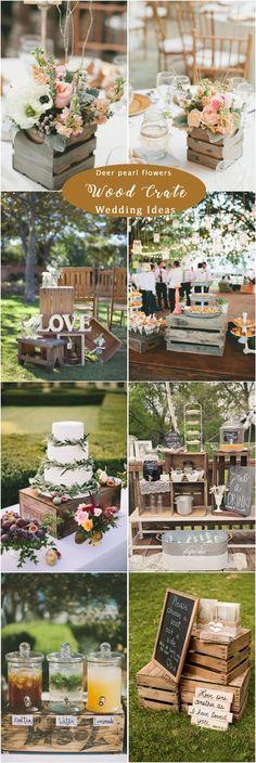 Rustic wood crate wedding ideas