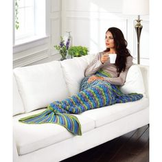 "My favorite source for arts and crafts:  Mermaid Tail Throw - Adult (42 x 54"")"