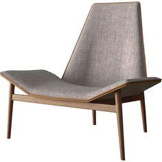 Kent Lounge Chair Gray Denim/Caramel/Dark Teak