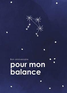 Les #Balances sont le signe du zodiaque le plus social !  Du 23 septembre au 22 octobre, ils adorent recevoir des cartes pour leur #anniversaire :) Signs, Constellations, Poster, Home Decor, Zodiac, Greeting Card, September, Autumn, Cards