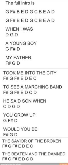 The intro to Welcome to the Black Parade. MCR