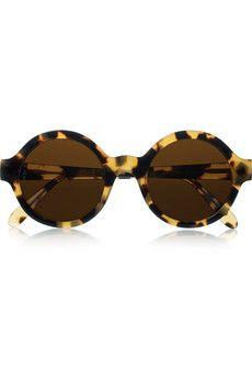 Illesteva's round tortoiseshell acetate sunglasses are handmade and fabulous!
