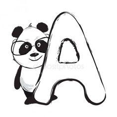 Panda bear cute animal english alphabet letter A with cartoon baby font illustrations , Cute Panda Wallpaper, Cute Pokemon Wallpaper, Disney Phone Wallpaper, Wallpaper Iphone Cute, Naruto Wallpaper, Panda Wallpapers, Cute Wallpapers, Bebe Vector, Panda Lindo