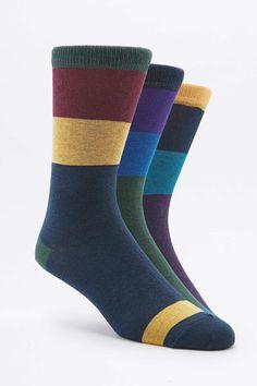 Socken mit Blockstreifen im Set - Urban Outfitters