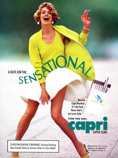 A taste for the sensational. 80s Ads, Old Advertisements, Retro Advertising, Retro Ads, Vintage Cigarette Ads, Vintage Ads, Vintage Posters, Famous Ads, Smoking Ladies