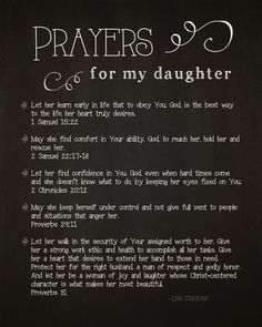 Prayers for My Daughter by Lysa TerKeurst.