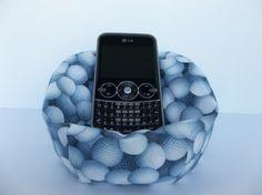Cell Phone Bean Bag Chair Golf Balls Golfing White And Gray