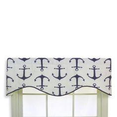 RL Fisher Anchors Away Cornice Valance - BedBathandBeyond.com
