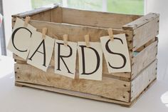 15 Unique wedding reception ideas on a budget - Simple and budget friendly ideas,use old wood create to Wooden cards box,Unique wedding reception