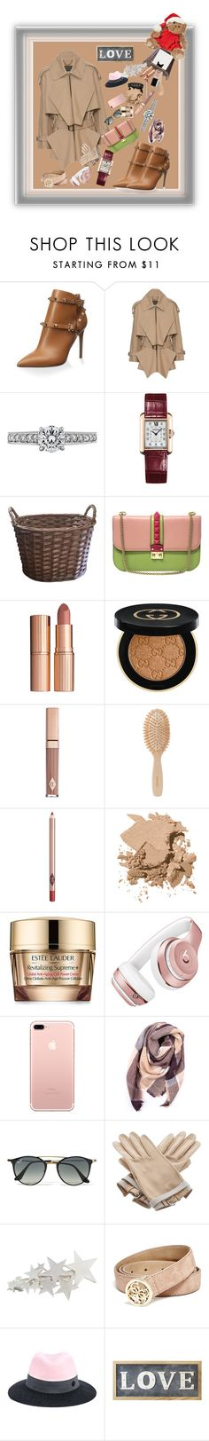"""""""Winter With Brown Coat Burberry"""" by donnyprabowo ❤ liked on Polyvore featuring Valentino, Burberry, Cartier, Charlotte Tilbury, Gucci, Meraki, Bobbi Brown Cosmetics, Estée Lauder, Beats by Dr. Dre and Everest"""