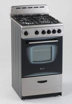 Avanti GR2013CSS Gas Range, 20', Black *** This is an Amazon Affiliate link. Check out this great product.