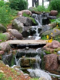 A beautiful waterfall by The Bruce Company.