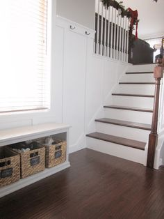 Foyer stair re-do and board & batten