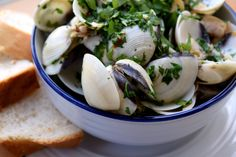 Excellent Father's Day Recipes, From The Old Greenwich Wine Club in Greenwich, Connecticut, click through for more. Old Greenwich, Greenwich Connecticut, Clams, Vegetables, Cooking, Recipes, Wine, Food, Kitchen