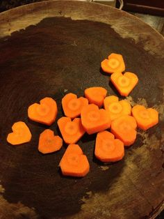 Here are my heart-shaped carrots!