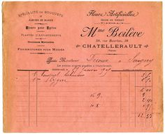French Invoice - Flower Seller - Printable - The Graphics Fairy
