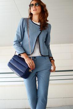el blog de silvia Blue suit #kissmylook