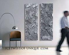 Industrial Metal Abstract Painting / CUSTOM 4 set of paintings