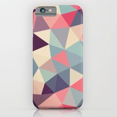 geometric / facet patterned phone case (iphone, samsung galaxy). Very soft and pretty!