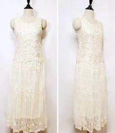 Bohemian flowers lace Princess maxi Dress Vintage inspired wedding dress Bohemian lace dress. $89.00, via Etsy.
