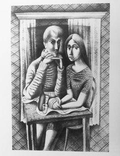 Desenho de Almada Negreiros, 1932. Henri De Toulouse Lautrec, Gustav Klimt, Preston, Lion Love, Couple Art, Paint Designs, Portrait Art, Figurative Art, Portuguese