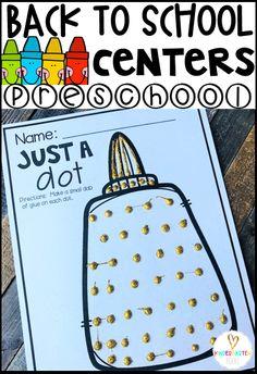 20 Amazing Back to School Preschool Centers ~Hands-On Activities for Young Learners - Kindergarten Rocks Resources