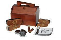 Dark shoe-shine box style Genova   Shoe Care Box   Tonino 1973