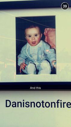 Baby Dan!!! (From Catrific's snapchat )