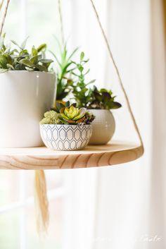 #DIY FLOATING SHELF. Umm... YES! :) #craft #handmade #diyhome #succulent #planter