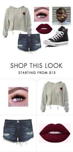 """Untitled #236"" by alyssa-wilsonn ❤ liked on Polyvore featuring Sans Souci, 3x1 and Converse"