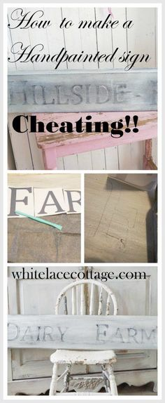 Now I know how they create those hand painted signs. This is a great tutorial. Can't wait to try this! whitelacecottage.com