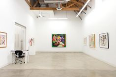 """Installation view of Peter Saul: """"from Pop to Politics"""" at CB1-G presented by George Adams Gallery NY. Only few more days left to see this show closing on Sunday February 19. .  http://cb1.co/8r . """"In a typical Saul painting or drawing German expatriate social-observer Max Beckmann collides with jingoist all-American Thomas Hart Benton within an abstract structural armature of Willem de Kooning all slathered with a cheeky overlay of Mad Magazine irreverence. Its quite a mash-up...""""…"""