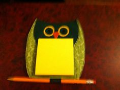 Owl Post It Holder by EmbroideryStuff on Etsy, $3.00