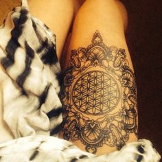 This photo is from a client of mine who commissioned a mandala design from me and then got it tattooed on her thigh.Sadly I do not know of the artist who tattooed this.Facebook:http://www.facebook.com/BeinKemenInstagram: @BeinKemenEmail: BeinKemen@gmail.com
