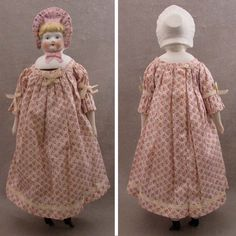 """15.5"""" Hertwig Parian Bisque Pink Bonnet Head Doll from virtu-doll on Ruby Lane"""
