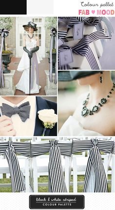 Black and White Striped Wedding Board   http://fabmood.com/black-white-striped-wedding-board/