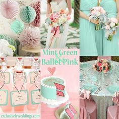 Pink, Mint & Gold Wedding Inspiration | someday my prince will come ...